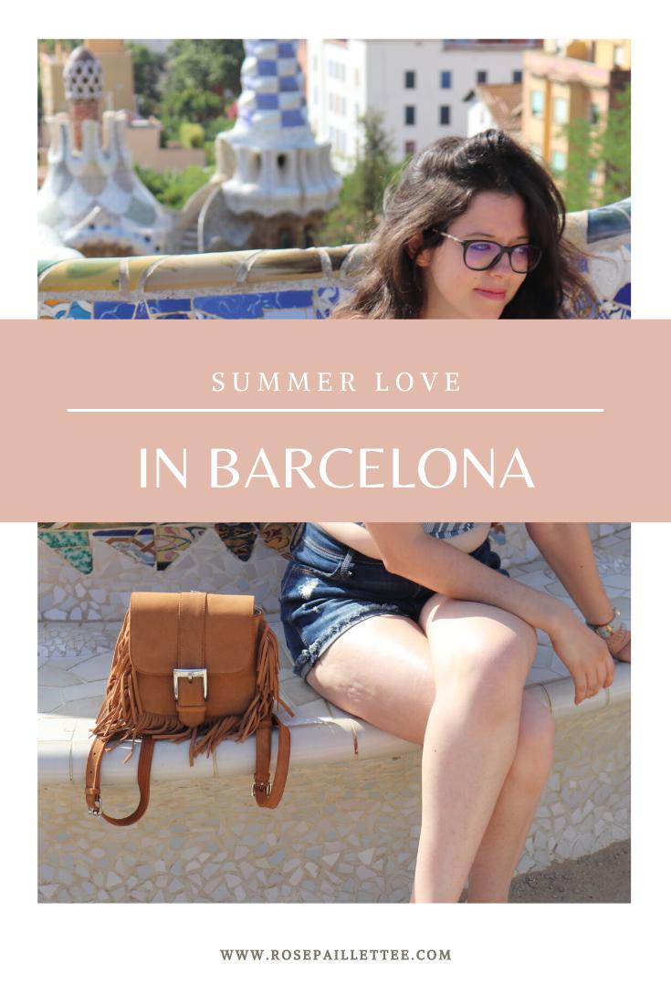 Summer love in barcelona