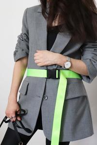 look veste et ceinture fluo junesixtyfive