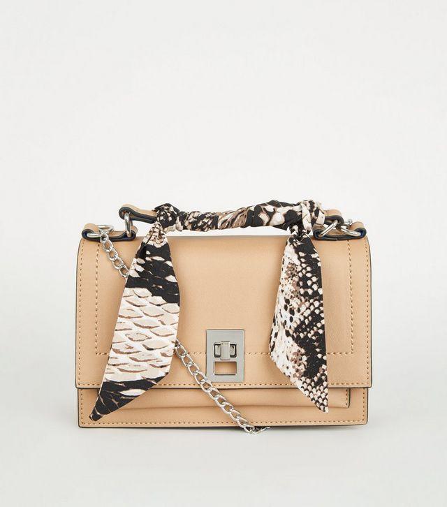 sac rude avec foulard python new look