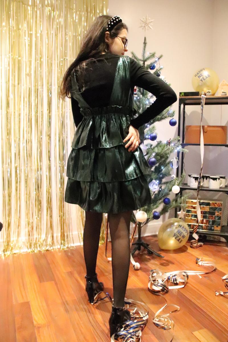 Ma robe verte à paillette pour noël