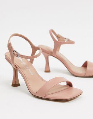 Sandale à bout carré nude New Look