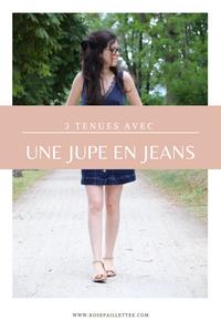 3 tenues avec une jupe en jeans