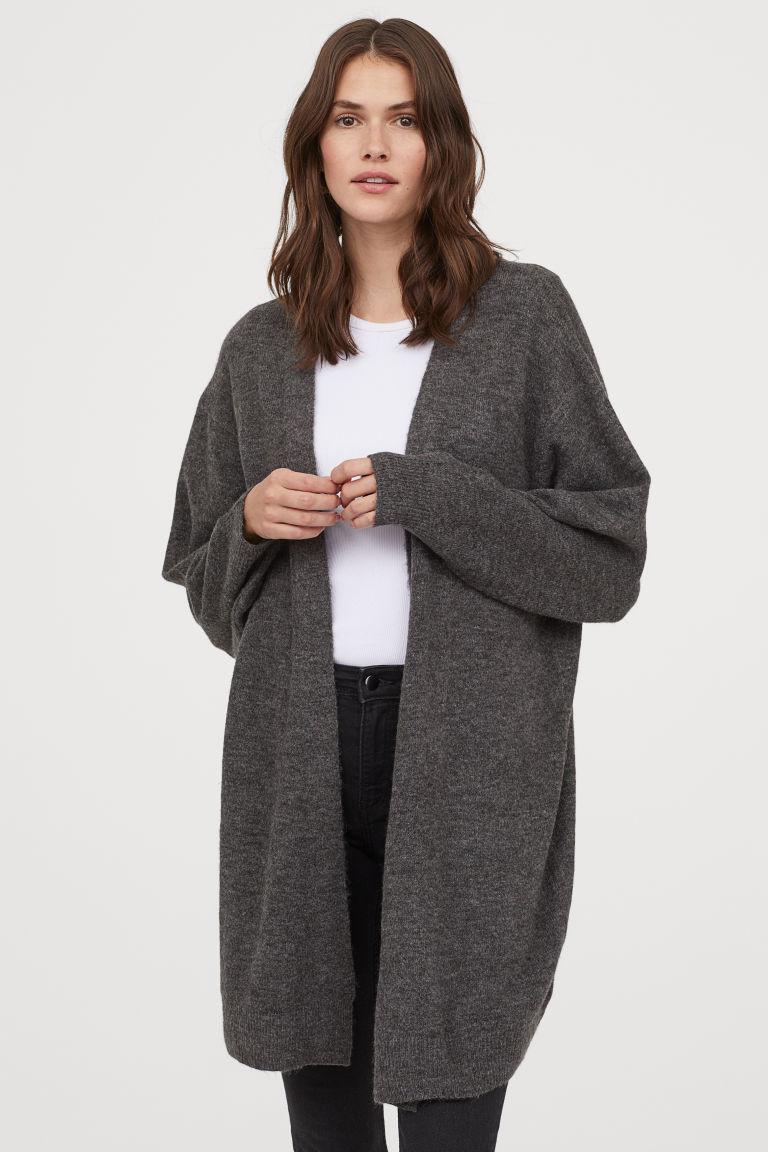 Gilet large gris foncé H&M