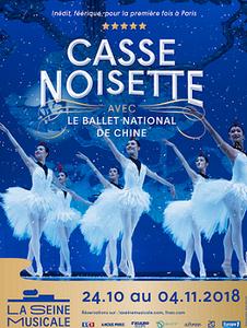 affiche du ballet casse noisette à la seine musical