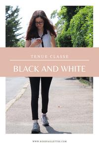 Tenue classe black and white