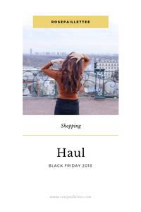 Haul black friday 2018