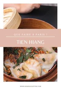 Que faire à Paris tien hiang