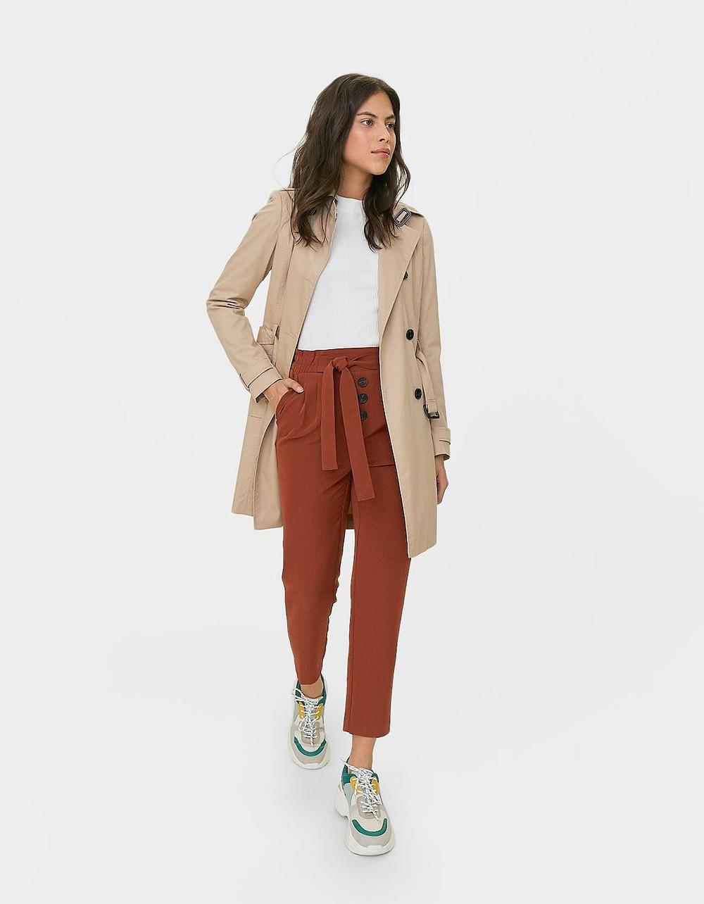 pantalon carotte stradivarius
