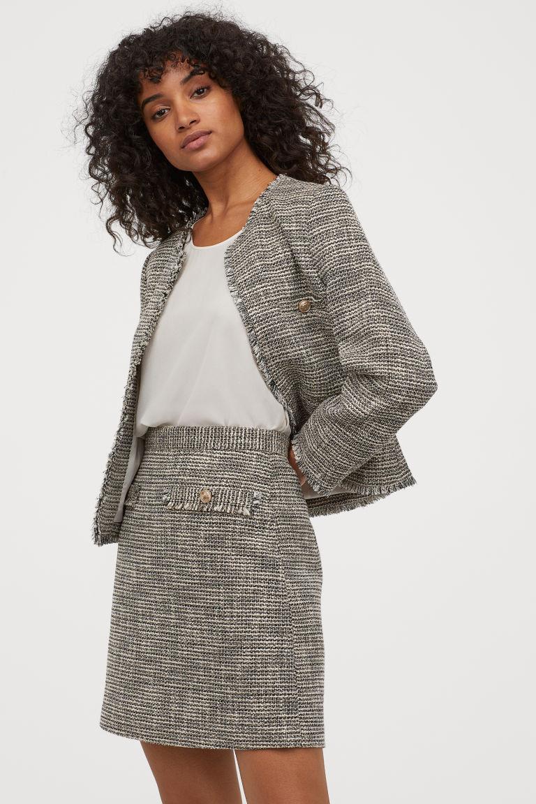 Ensemble veste + jupe chiné H&M