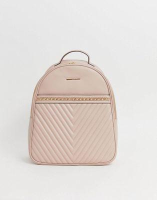 sac à dos matelassé rose claire aldo