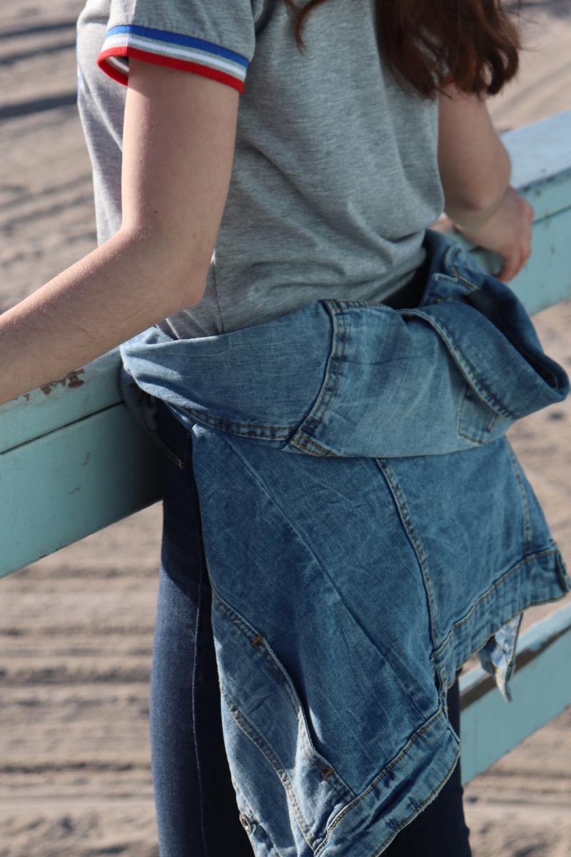 photo de la veste en jeans clockhouse