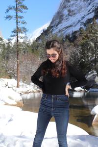 Photo de rosepaillettee en plan western à mirror lake au sein de yosemite sans manteau