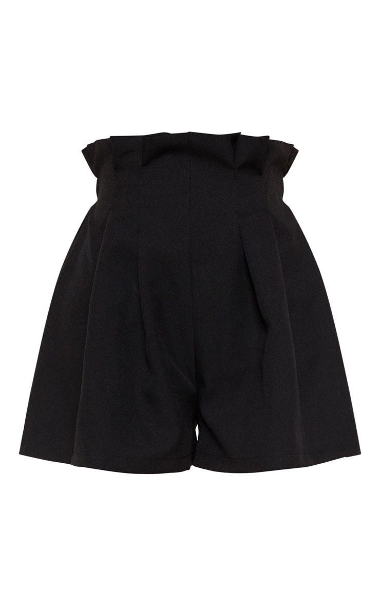 short noir plissé pretty little things