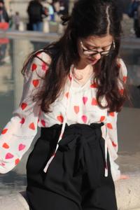 Petite blouse coeur C&A