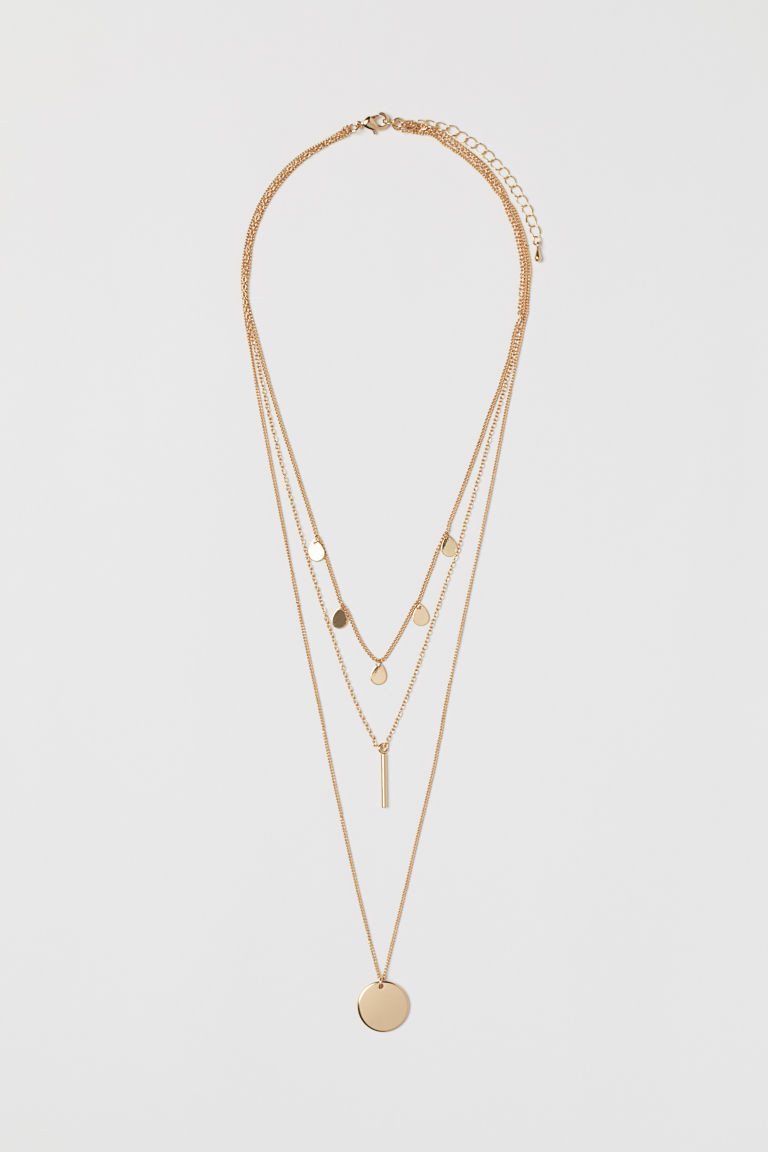 Collier 3 rangs H&M