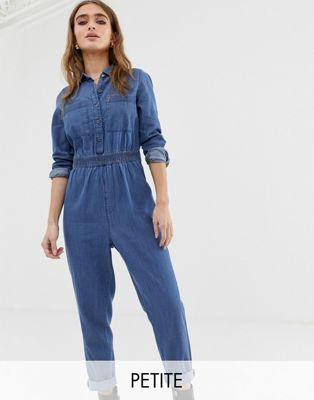 combinaison bleu de travail en jeans asos