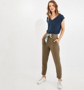 pantalon taille haute kaki de chez promod