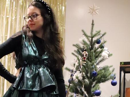 Ma robe verte à paillette pour noël | OOTD