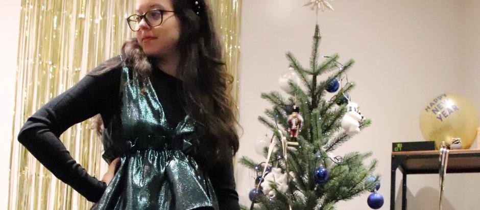 Ma robe verte à paillette pour noël   OOTD