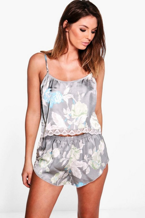 set de pyjama fleuris boohoo