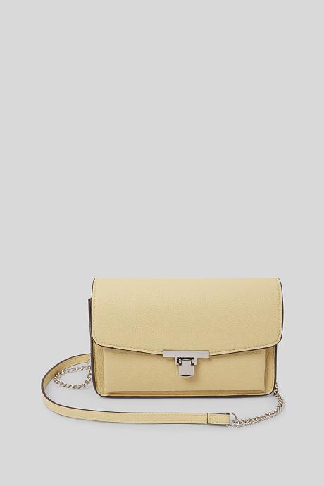 Petit sac à main jaune C&A