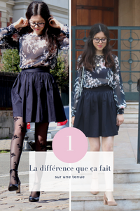 La différence que ça fait sur une tenue