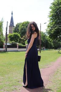 photo de rosepaillettee dans une robe longue ASOS