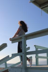 Photo de rosepaillettee sur un ponton de lifeguard