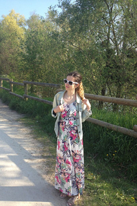 Robe longue à fleur h&m