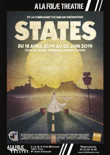 affiche de states à la folie théâtre