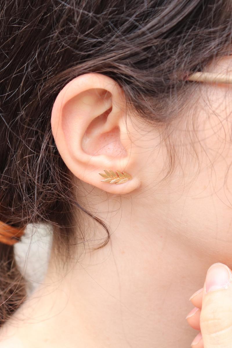 photo des boucles d'oreille épis de blé de chez moonlax