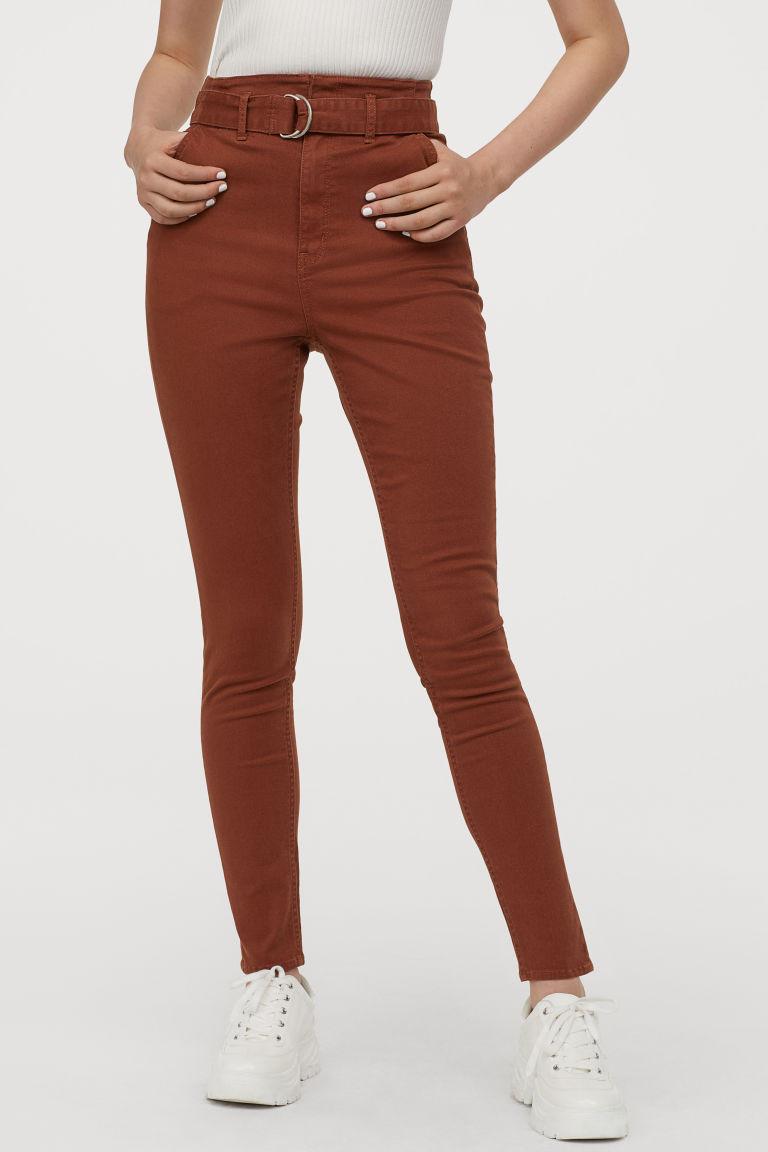 pantalon en twill brun rouille