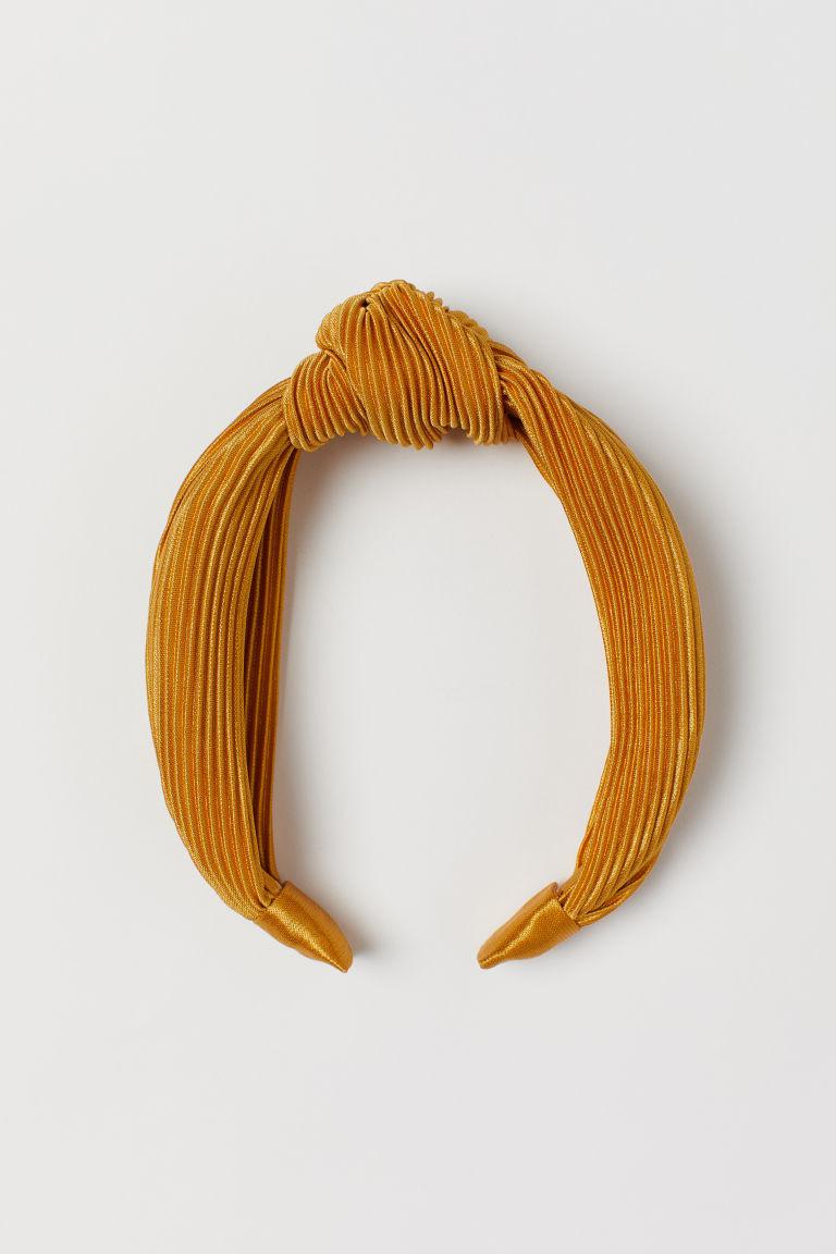 Serre-tête velours jaune H&M