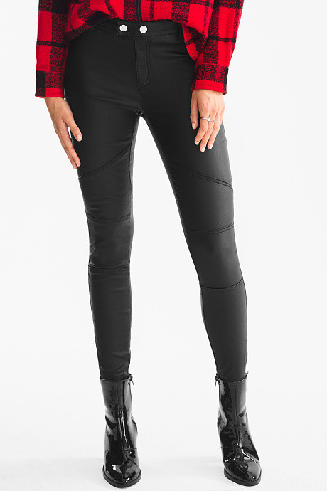 Pantalon en simili cuir C&A