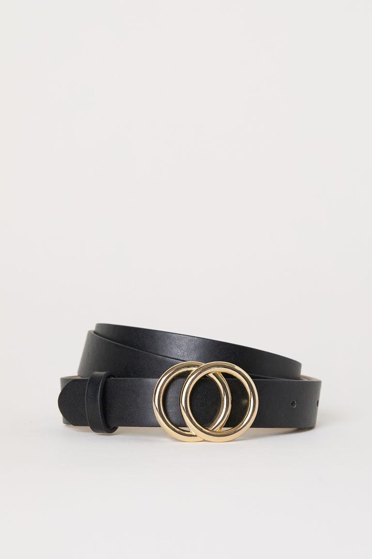 ceinture fine noir