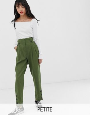 Pantalon tailleur kaki de chez Asos
