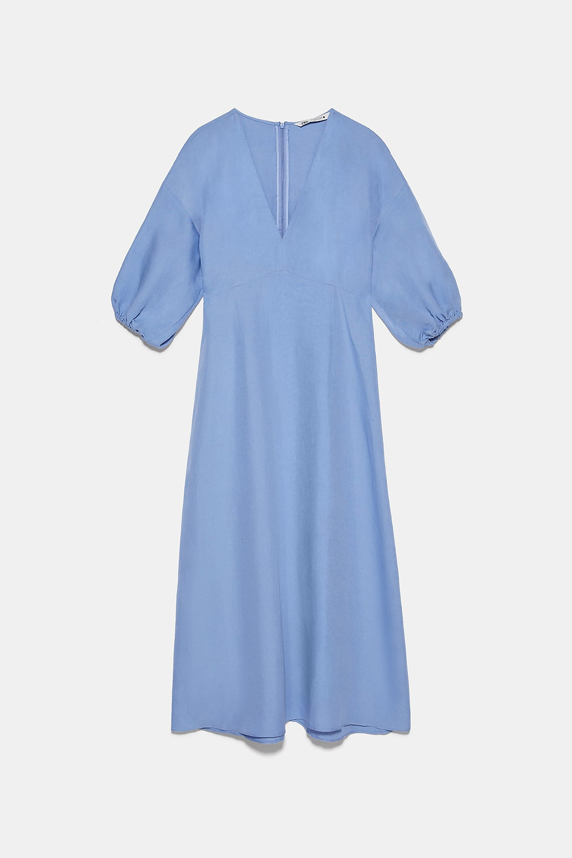 Robe rustique bleu layette Zara