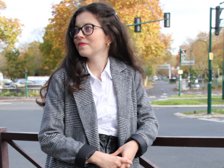 Une tenue preppy avec un short en simili cuir | OOTD