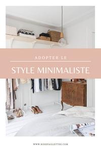 adopter le style minimaliste