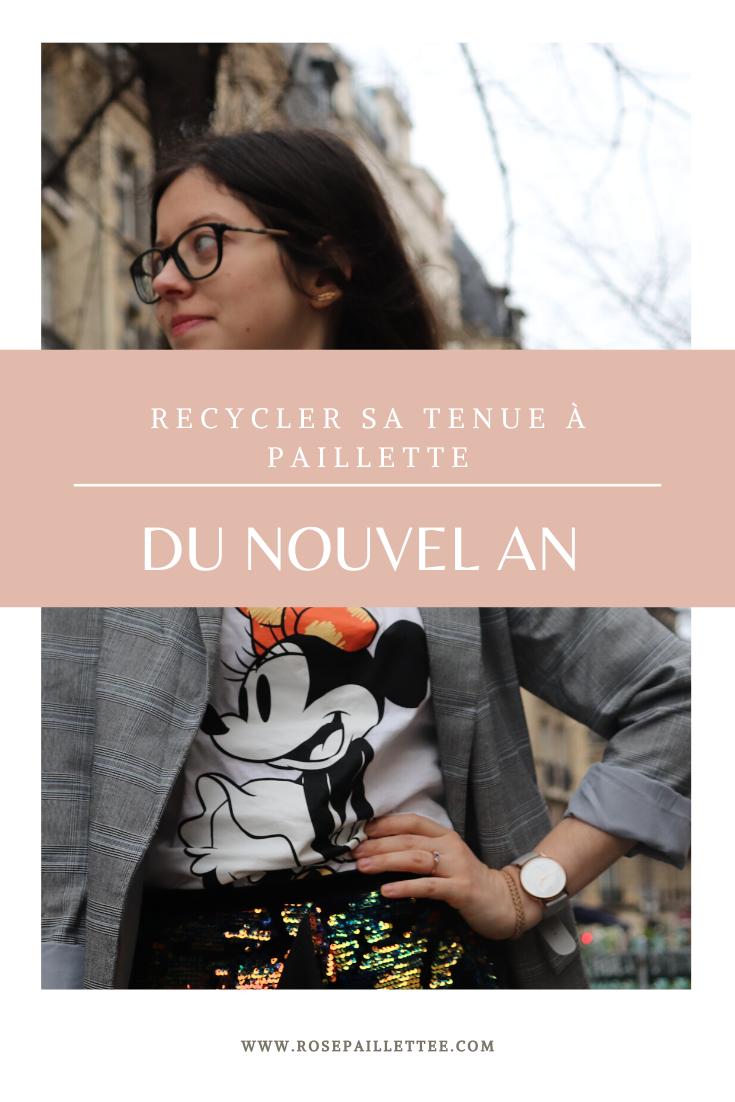Recycler sa tenue à paillette du nouvel an