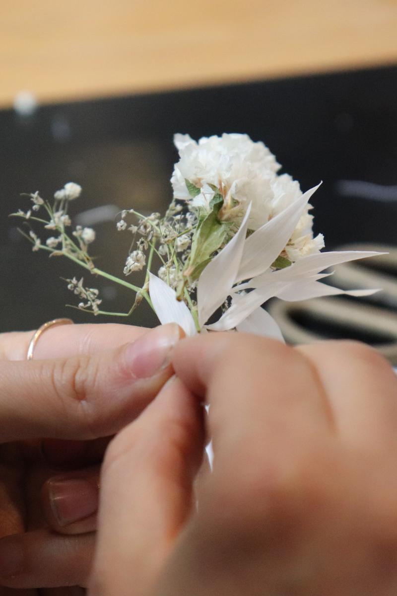 formation de mon bouquet de fleur séché