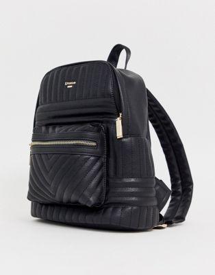 sac à dos matelassé noir Dune