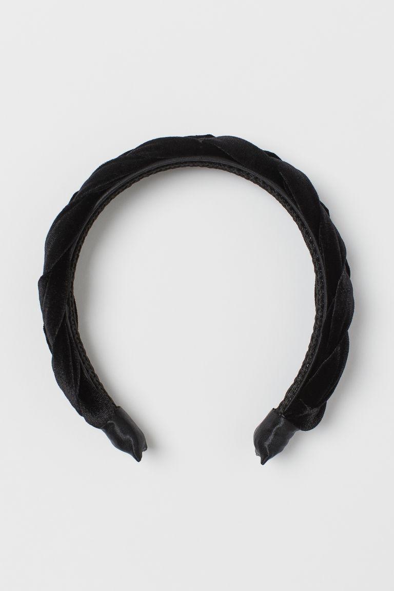 serre-tête en velours noir H&M