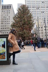 Rockefeller center sapin à New York