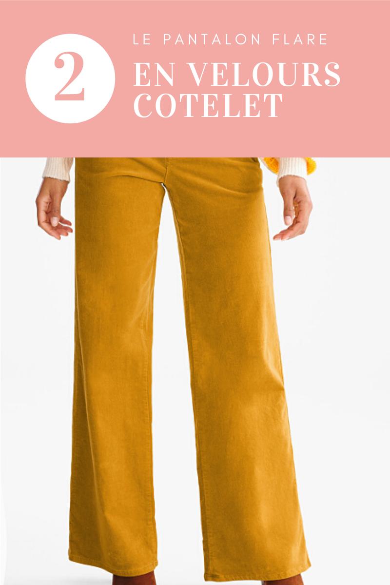 3 articles tendance pour lesquels je ne craquerai pas  : le pantalon flare en velours cotelet