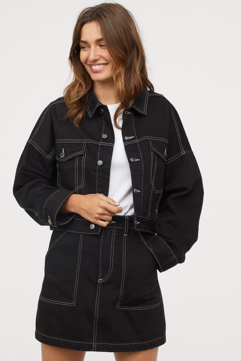 Ensemble en jeans noir H&M