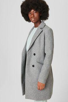 Manteau en lainage gris C&A