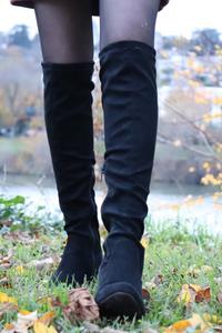 La jupe simili daim