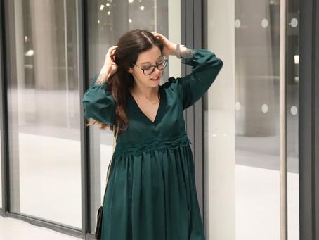 Elégante en robe verte | OOTD