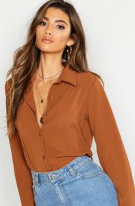 chemise camel boohoo